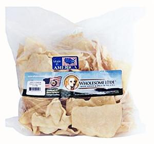 Wholesome Hide Large Beefhide Chips 2 lb bag