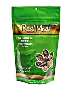 The Real Meat Company Beef Jerky Bits Dog Treats 12 oz