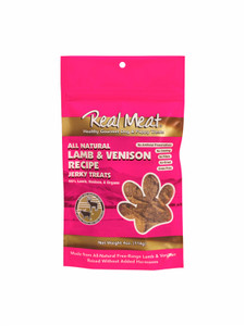 The Real Meat Company Lamb and Venison Jerky Treats 4 oz.