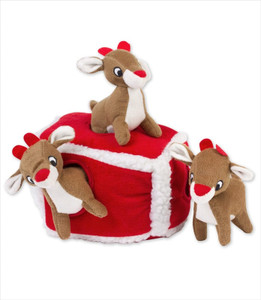 Zippy Burrow Reindeer Den Puzzle Dog Toy