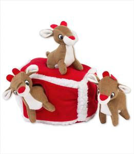 ZippyPaws Burrow Reindeer Den Puzzle Dog Toy