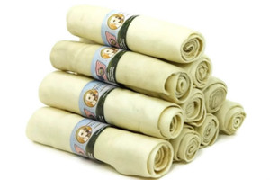 Wholesome Hide Super Thick Retriever Roll 10 inch pack of 10