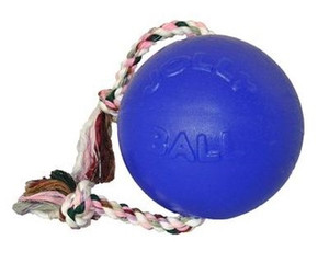 Jolly Pets Romp N Roll Ball Blue 4.5 inch Dog Toy stands up to the roughest, toughest dogs