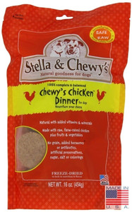 Stella and Chewy's Chicken Freeze Dried Dog Food Dinner 16 oz