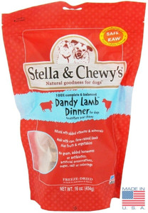 Stella and Chewy's Lamb Freeze Dried Dog Food Dinner 16 oz