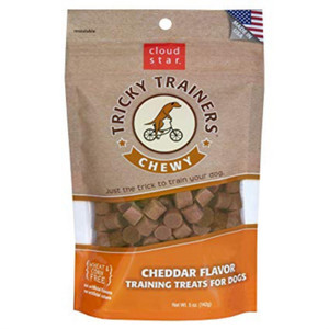 Cloud Star Tricky Trainers Chewy Dog Treats - Cheddar- 5 oz.