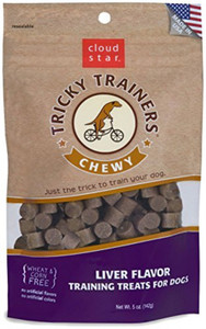 Cloud Star Chewy Tricky Trainers Liver Dog Treats 5-oz Bag