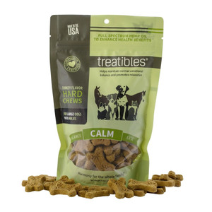TREATIBLES Hemp Calm Chews for Dogs Turkey Flavor 4mg Large 45ct