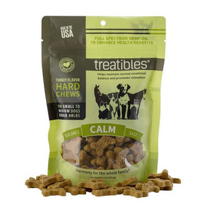 TREATIBLES Hemp Pumpkin Dog Treats  1 mg Small 75Ct
