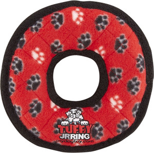 Tuffy's Junior Ring Red Paws Tough Dog Toy