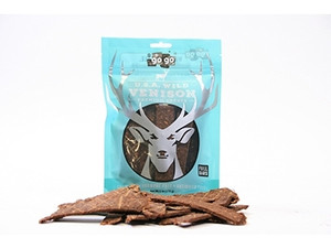 GoGo Wild Venison USA dog Jerky Strips 12 oz.