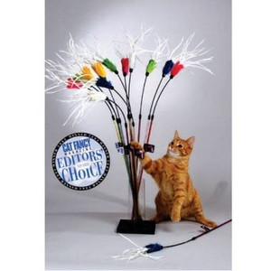 Vee Purrfect Feather Bouncer Cat Wand