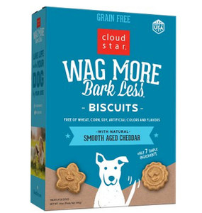 Cloud Star Wag More Bark Less Baked Dog Biscuits Grain Free Cheddar