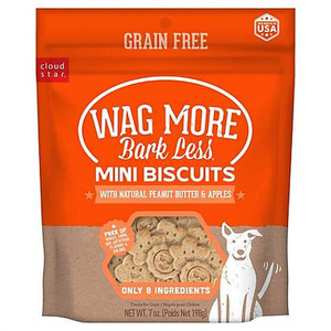 Wag More Bark Less Mini Baked Biscuits Peanut Butter and Apples 7 oz.