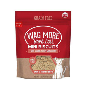 Cloud Star Wag More Bark Less Turkey Cranberry Mini Biscuits