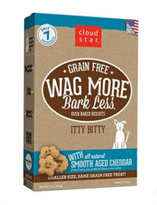 Cloud Star Wag More Bark Less Itty Bitty Baked Cheddar dog treats