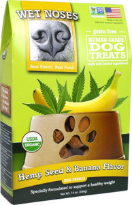 Wet Noses Organic Hemp Seed & Banana Dog Treats 14 oz.