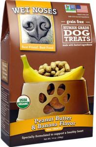 Wet Noses Organic Peanut Butter & Banana Dog Treats 14 oz.