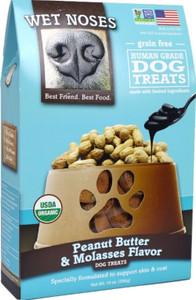 Wet Noses Organic Peanut Butter & Molasses Dog Treats 14 oz.
