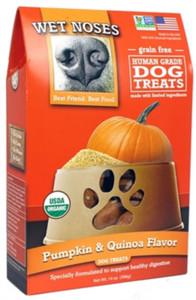 Wet Noses Organic Grain Pumpkin Quinoa Dog Treats 14 oz.
