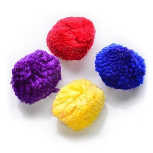 Spot Wool Pom Poms Catnip Toy 4 pack