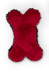 West Paw Holiday Merry Bone Plush Dog Toy - Tiny
