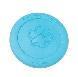 West Paw Zisc Flying Disc dog toy- Aqua