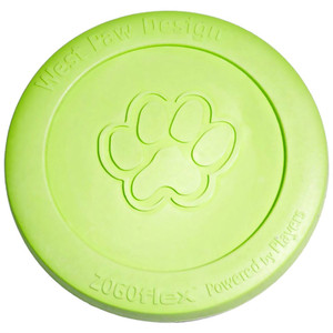 West Paw Zisc Flying DiscDog Toy- Granny Smith Green