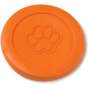 West Paw Zisc Flying Disc Dog Toy is tough, but flexible