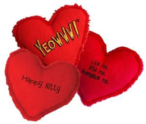 Yeowww Catnip Heart Cat Toy- Happy Kitty
