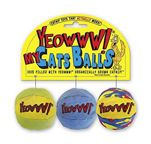 Yeowww! My Cats Balls Catnip Toy
