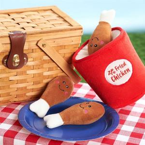 Zippy Burrow Fried Chicken Bucket dog toy