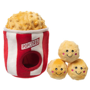 Zippy Burrow Popcorn Bucket dog toy