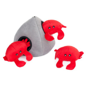 Zippy Burrow Crab N Rock Puzzle Dog Toy