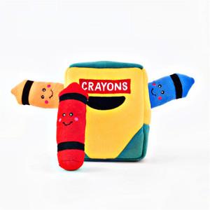 ZippyPaws Burrow Crayon Box Dog Toy