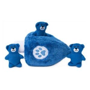 ZippyPaws Dreidel with Bears Burrow Dog Toy