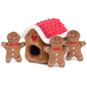 Zippy Burrow Gingerbread House Puzzle Dog Toy