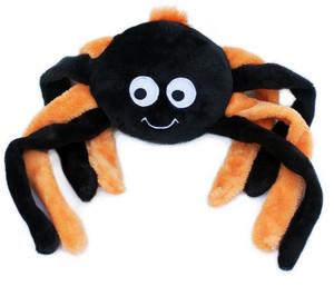 ZippyPaws Halloween Grunterz - Orange Spider dog toy