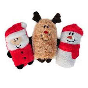 Zippy Paws Holiday Squeaky Buddies 3 pack