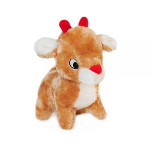 Zippypaws Holiday Reindeer Dog Toy