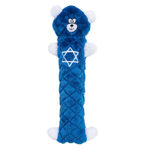 ZippyPaws Jigglerz Hanukkah Bear No Stuffing dog toy
