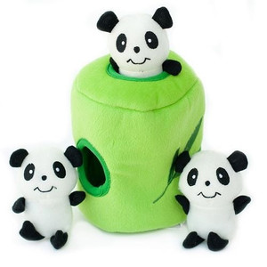 Zippy Burrow Panda N Bamboo Puzzle Dog Toy