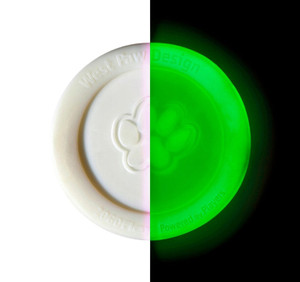 West Paw Design Zisc Glow Mini- Made in USA dog toy
