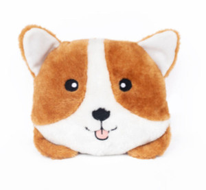 Zippypaws Squeaky Bun Corgi Dog Toy