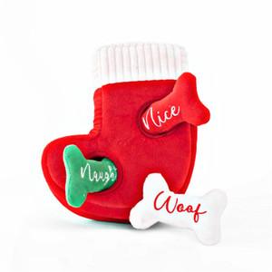 Zippy Holiday Burrow Stocking Naughty or Nice Puzzle Dog Toy
