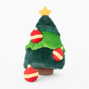 Zippy Holiday Christmas Tree Burrow Puzzle Dog Toy