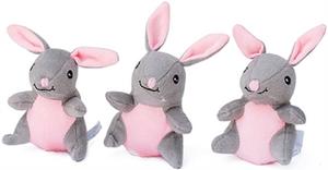 ZippyPaws Miniz Bunnies Dog Toys 3 Pack
