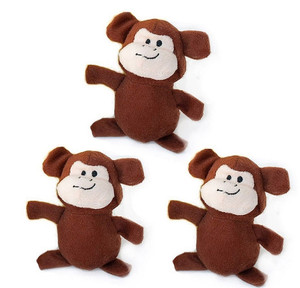 ZippyPaws Miniz Monkeys Dog Toys 3 Pack