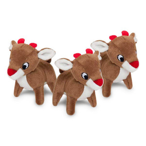 ZippyPaws Miniz Reindeer Dog Toys 3 Pack