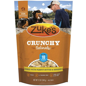Zuke's Crunchy Naturals 10s Peanut Butter N Banana dog treat
